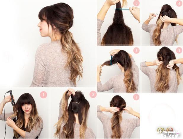 Как сделать объёмную причёску на средние волосы 263