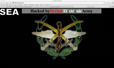 الجيش الإلكتروني السوري يتمكن إختراق