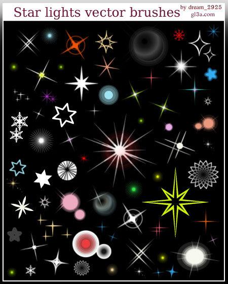 تحميل Star lights vector النجوم