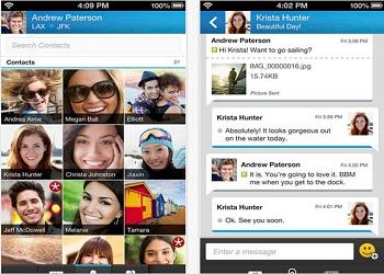 جديد بلاك بيرى2014,تطبيق المحادثة الخاص