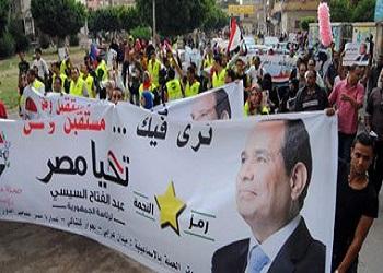 وقفة لأنصارالسيس بالتحرير2014،دعم انتخابات الرئاسة